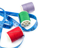 spools of thread and meter Stock Photo