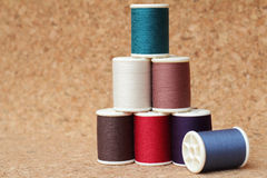 Spools of thread  multicolored Royalty Free Stock Images
