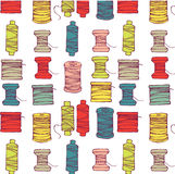 Spools of Thread Pattern Stock Photos