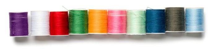 Spools of Thread. On White Stock Photos