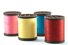 Spools of thread. On white background royalty free stock photo