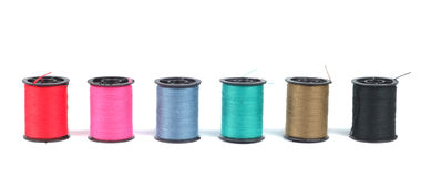 Spools With Threads Stock Image