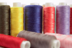 Spools of threads. Several Color spools of threads Royalty Free Stock Photography