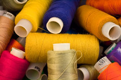 Spools of threads Stock Image
