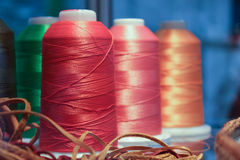 Spools Of Threads Royalty Free Stock Photography