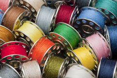 Spools of yarn Stock Photo