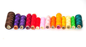 Spools yarn rolls Stock Image