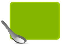 Spoon. The spoon on textured background Royalty Free Stock Photos