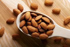 Spoon of Almonds Stock Photography