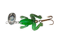 Spoon bait silicon frog lure Stock Photography