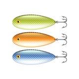 Spoon-bait  on white vector. Spoon-bait  on white photo-realistic vector illustration Stock Image
