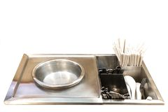 Spoon boiler to creative for design and decoration isolate stock photos