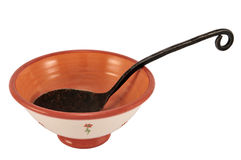 Spoon in the bowl Royalty Free Stock Image