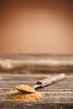 Spoon of brown sugar Royalty Free Stock Photography