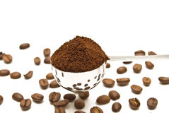 Spoon of coffee Royalty Free Stock Photography
