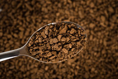 Spoon of coffee Stock Photos