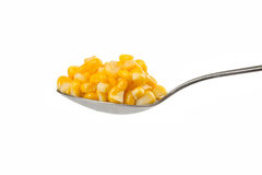 Spoon with corn Royalty Free Stock Image