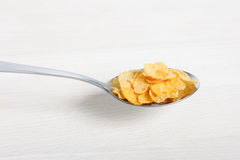 Spoon of cornflakes Royalty Free Stock Image