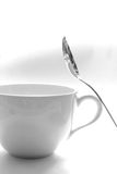 Spoon and cup Royalty Free Stock Photo