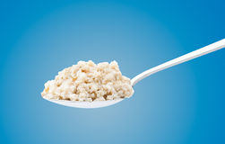 Spoon with a delicious porridge Stock Photo