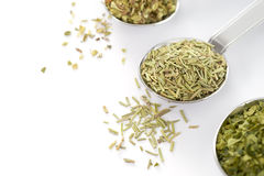 Spoon with Dried Herbs Stock Photo