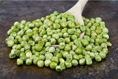 Spoon of dried peas Royalty Free Stock Images