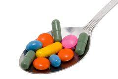 Spoon of Drugs Royalty Free Stock Image