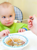 Spoon Feeding Royalty Free Stock Images