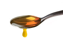 Spoon filled with honey Stock Photography