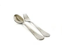 Spoon and fork Stock Images