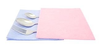 Spoon and fork Royalty Free Stock Photo