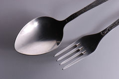 Spoon and fork Royalty Free Stock Images