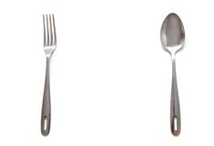 Spoon and fork Stock Photo