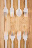 Spoon in fork border Stock Images
