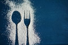 Spoon, Fork, Cutlery, Icing Sugar