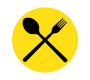 Spoon and Fork Icon Stock Photo