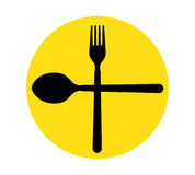 Spoon and Fork Icon. Design. Aı 8 supported Stock Image