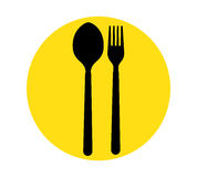Spoon and Fork Icon Royalty Free Stock Photos