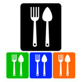 Spoon fork icon  kitchen illustration Royalty Free Stock Image