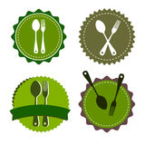 Spoon fork icon  kitchen illustration. Restaurant Royalty Free Stock Photography