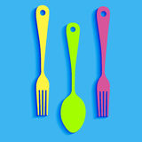 Spoon fork icon  kitchen restaurant. Food Royalty Free Stock Photo