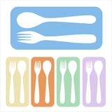 Spoon and fork icon Royalty Free Stock Photo