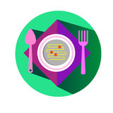 Spoon fork icon vector kitchen illustration Stock Photography