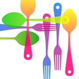 Spoon fork icon vector kitchen illustration restaurant. Spoon fork icon vector kitchen illustration Stock Image