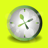 Spoon fork icon vector kitchen illustration Stock Images