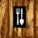 Spoon fork icon vector kitchen illustration Royalty Free Stock Photo