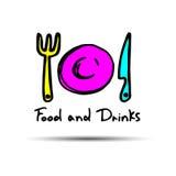 Spoon fork icon vector kitchen illustration restaurant food Stock Photo