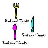 Spoon fork icon vector kitchen illustration restaurant food Royalty Free Stock Photo