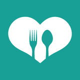 Spoon and fork illustration Stock Photo