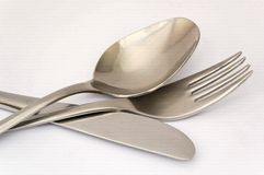 Spoon fork and knife Stock Image